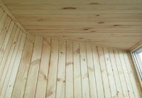 деревянная вагонка обшивка балкона киев