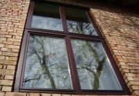 окна с алюминиевыми  накладками